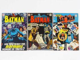 BATMAN #211, 212, 213 - (3 in Lot) - (1969 - DC - UK Cover Price) - Includes 30th Anniversary