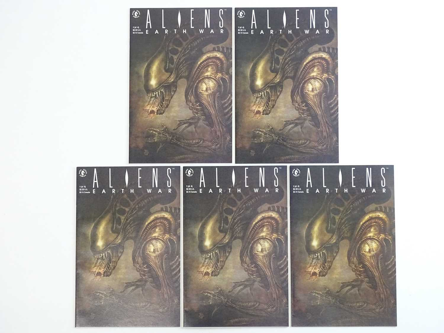 ALIENS: EARTH WAR #1 - (5 in Lot) - (1990 - DARK HORSE) - First Printing - Five (5) #1 issues for