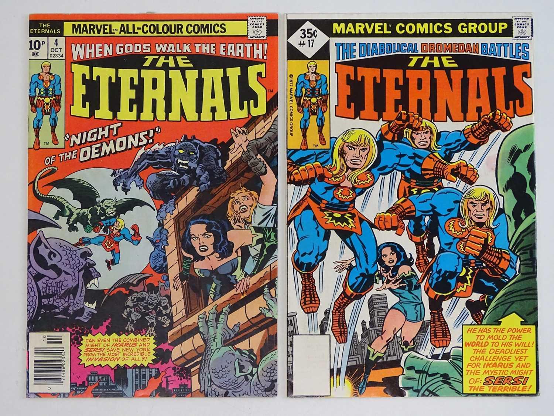 ETERNALS #4 & 17 - (2 in Lot) - (1976 - MARVEL - US Price & UK Price Variant) - HOT comic book