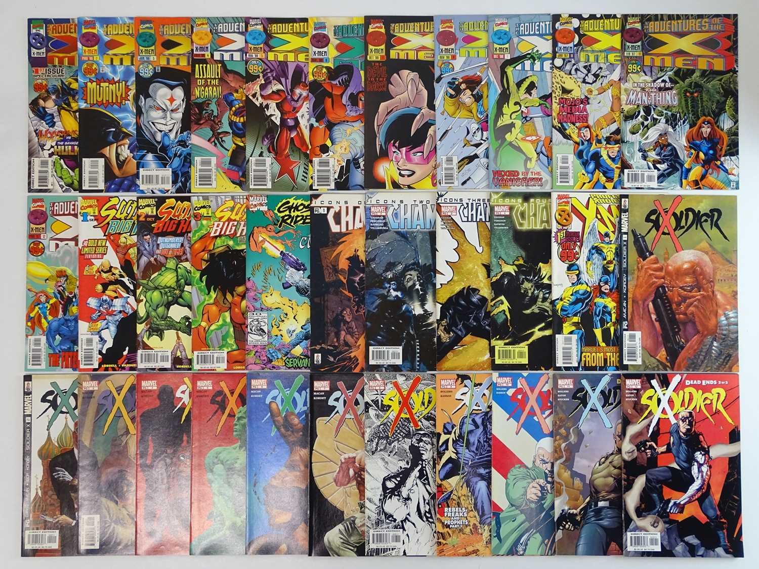 ADVENTURES OF THE X-MEN, SUNFIRE & BIG HERO 6, GHOST RIDER & CABLE, CHAMBER, SOLDIER X, PROFESSOR