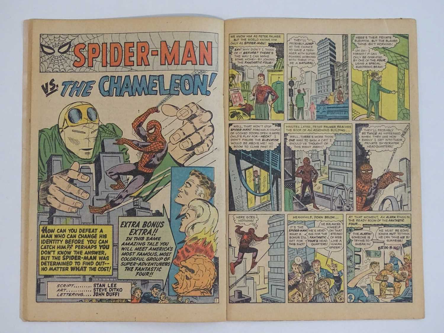 AMAZING SPIDER-MAN #1 - (1963 - MARVEL - UK Price Variant) - First appearance of Spider-Man un his - Image 20 of 27