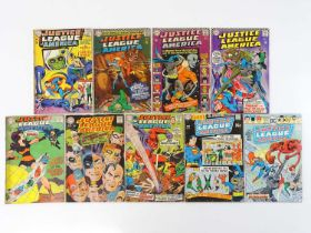 JUSTICE LEAGUE OF AMERICA #33, 45, 47, 49, 60, 61, 64, 76, 129 - (9 in Lot) - (1965/76 - DC - UK
