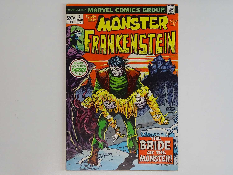 MONSTER OF FRANKENSTEIN #2 - (1973 - MARVEL) First appearance 'Bride of Frankenstein' - Mike Ploog