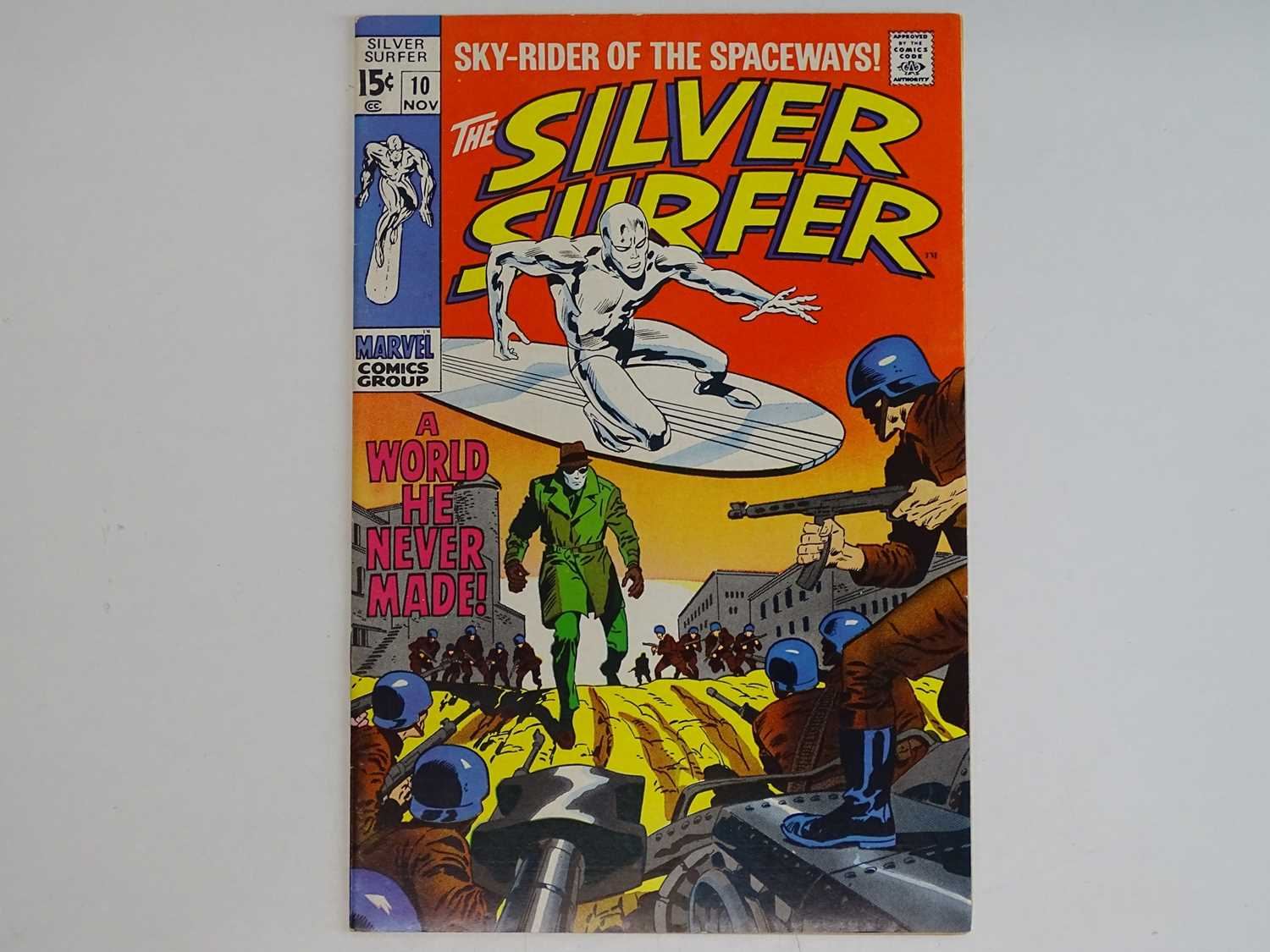 SILVER SURFER #10 - (1970 - MARVEL) - John Buscema cover and interior art - Flat/Unfolded - a