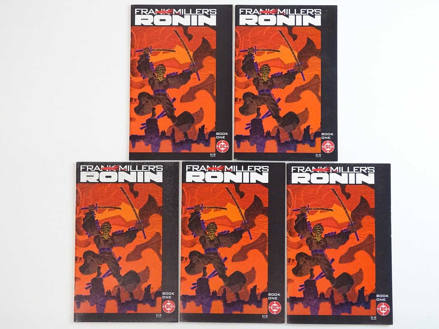 RONIN #1 - (5 in Lot) - (1983 - DC) - First Printing - Five (5) #1 issues for the Frank Miller