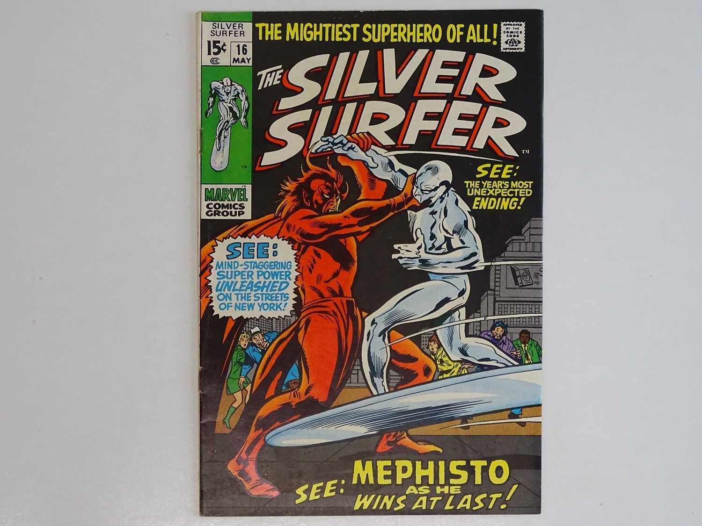 SILVER SURFER #16 - (1970 - MARVEL) - Mephisto, Nick Fury, Dum-Dum Dugan appearances - John