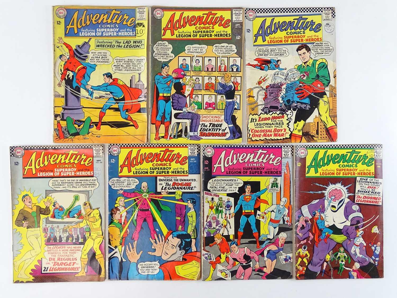 ADVENTURE COMICS: SUPERBOY & THE LEGION OF SUPER-HEROES #328, 336, 341, 348, 349, 352, 353 - (7 in