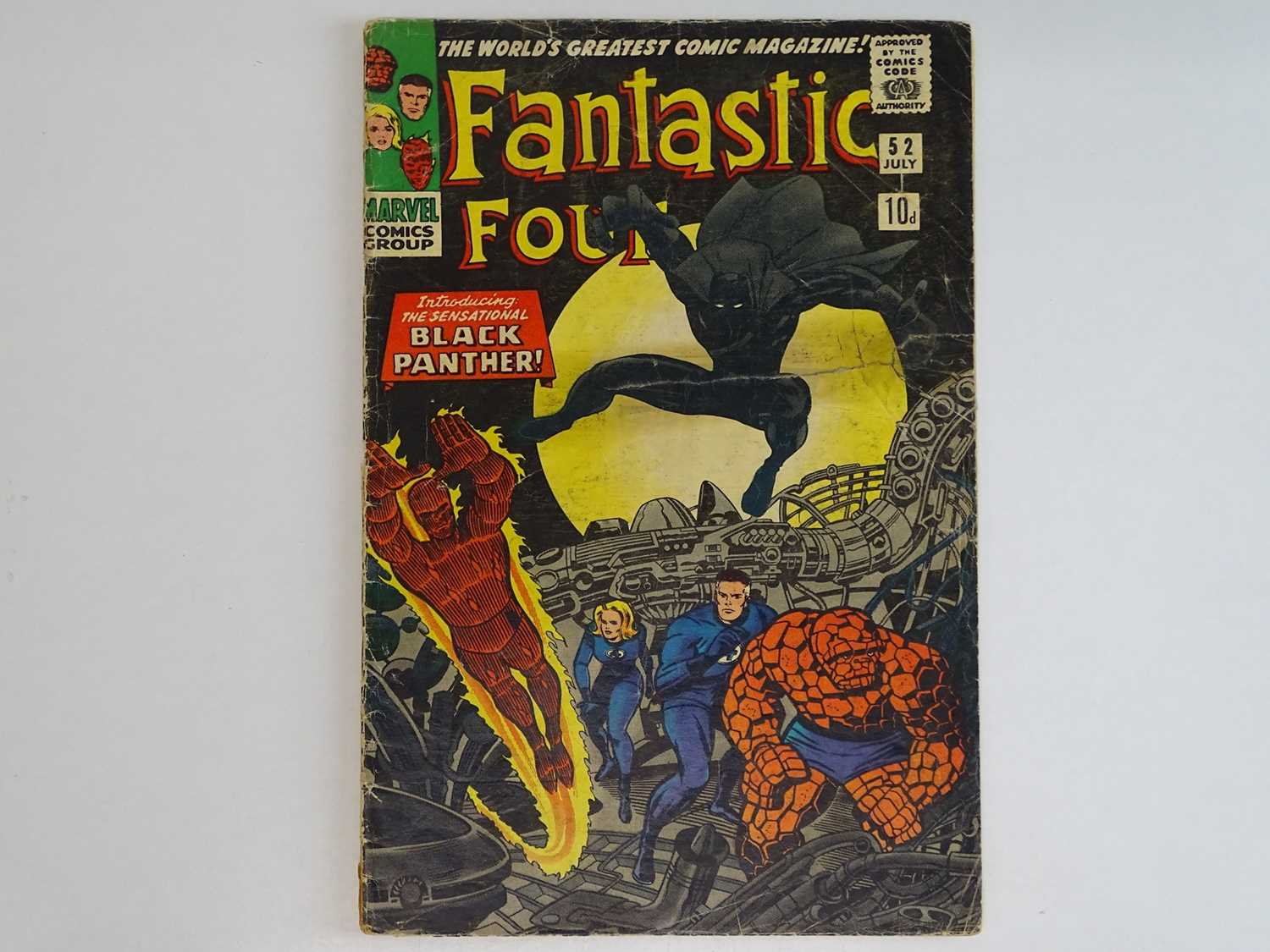 FANTASTIC FOUR #52 (1966 - MARVEL - UK Price Variant) - First appearance of Black Panther (one of