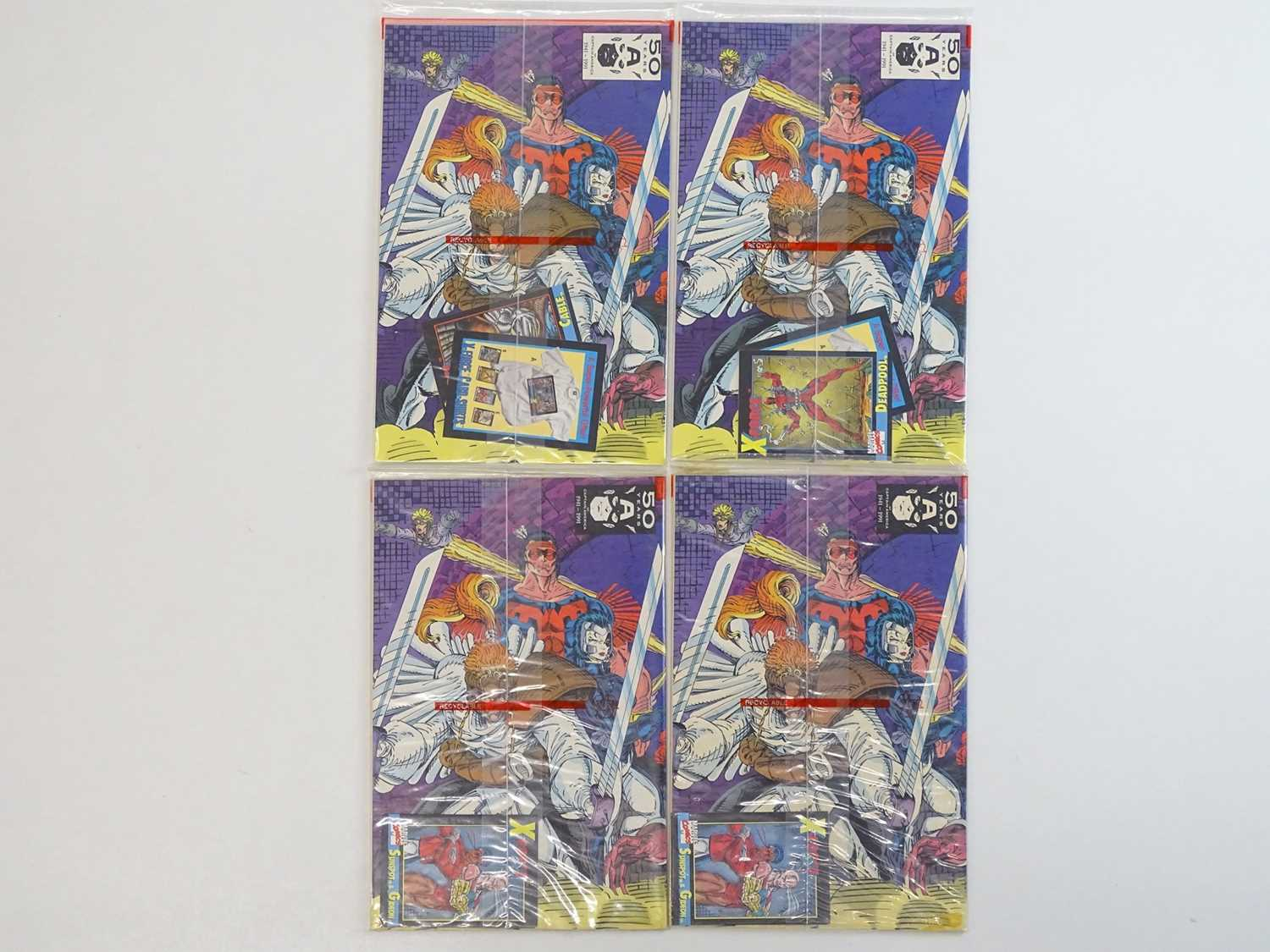 X-FORCE #1 - (4 in Lot) - (1991 - MARVEL) - All issues sealed in unopened poly bags with Trading - Image 2 of 2