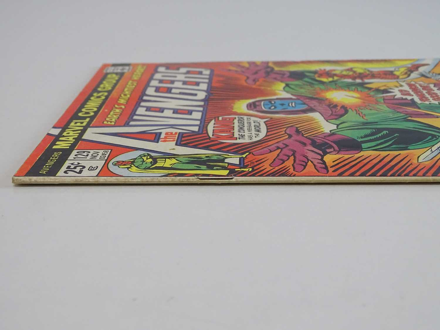 AVENGERS #129 - (1974 - MARVEL) - Classic Kang Cover + Kang the Conqueror, Ram-Tut appearances - Ron - Image 8 of 9