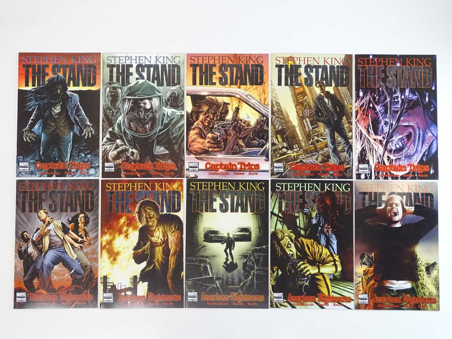 STEPHEN KING: THE STAND - CAPTAIN TRIPS & AMERICAN NIGHTMARES #1, 2, 3, 4, 5 - (10 in Lot) - (2008/