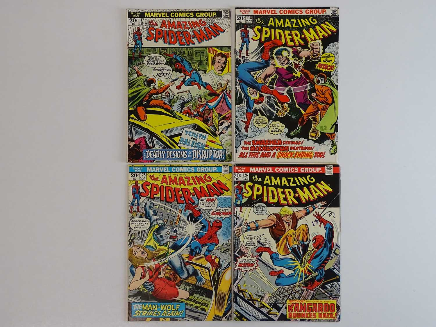 AMAZING SPIDER-MAN #117, 118, 125, 126 - (4 in Lot) - (1973 - MARVEL) - Includes Origin and Second