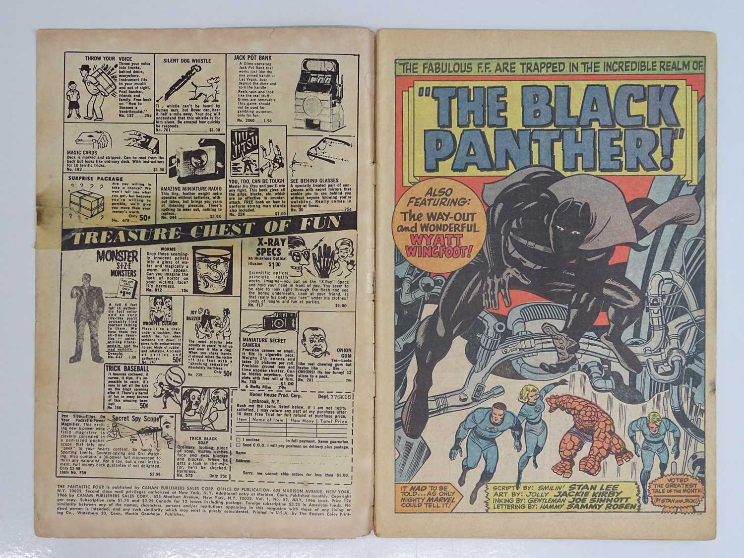 FANTASTIC FOUR #52 (1966 - MARVEL - UK Price Variant) - First appearance of Black Panther (one of - Image 4 of 10
