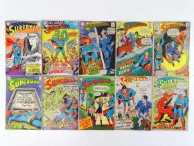 SUPERMAN #194, 207, 209, 210, 211, 213, 214, 218, 219, 220 - (10 in Lot) - (1967/69 - DC - UK