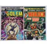 STRANGE TALES: GOLEM & WARLOCK #177 & 179 - (2 in Lot) - (1974/75 - MARVEL - UK Price Variant)