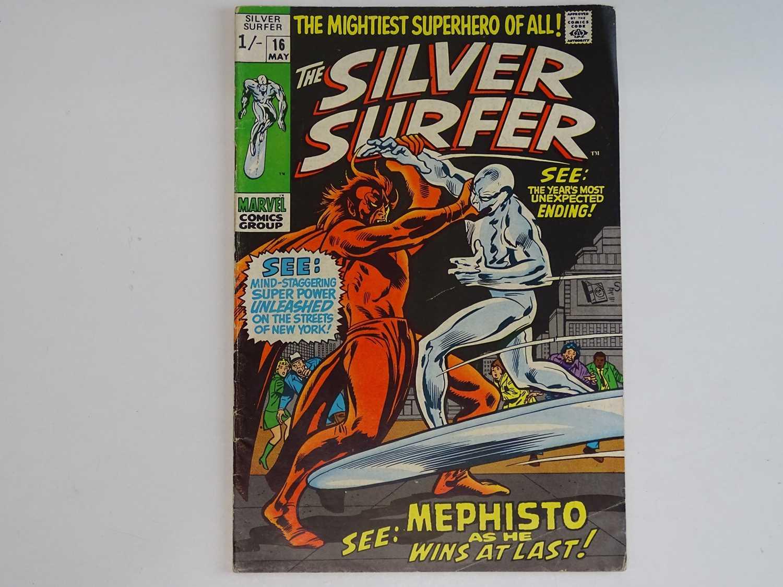 SILVER SURFER #16 - (1970 - MARVEL - UK Price Variant) - Mephisto, Nick Fury, Dum-Dum Dugan