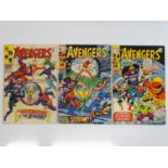 AVENGERS #53, 72, 88 - (3 in Lot) - (1968/71 - MARVEL - US Price & UK Price Variant) - Includes X-