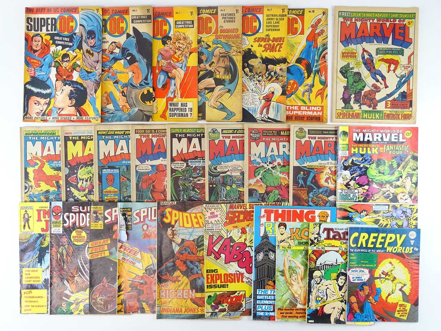 MIXED LOT OF BRITISH MARVEL, DC & OTHER COMICS - (26 in Lot) - (UK Price) - Includes BEST OF DC