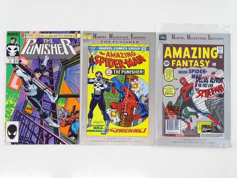 PUNISHER#1 + AMAZING SPIDER-MAN #129 + AMAZING FANTASY #15 - (3 in Lot) - (MARVEL) - Includes