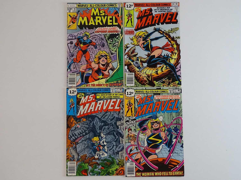 MS. MARVEL #19, 20, 21, 23 - (4 in Lot) - (1978/79 - MARVEL - UK Price Variant) - Includes Ms.