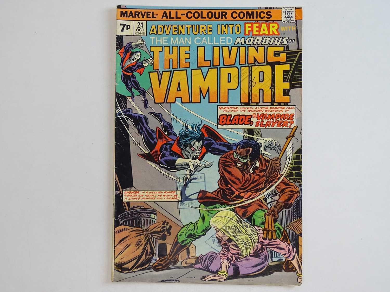 ADVENTURE INTO FEAR: MORBIUS THE LIVING VAMPIRE #24 - (1976 - MARVEL - UK Price Variant) - HOT Key