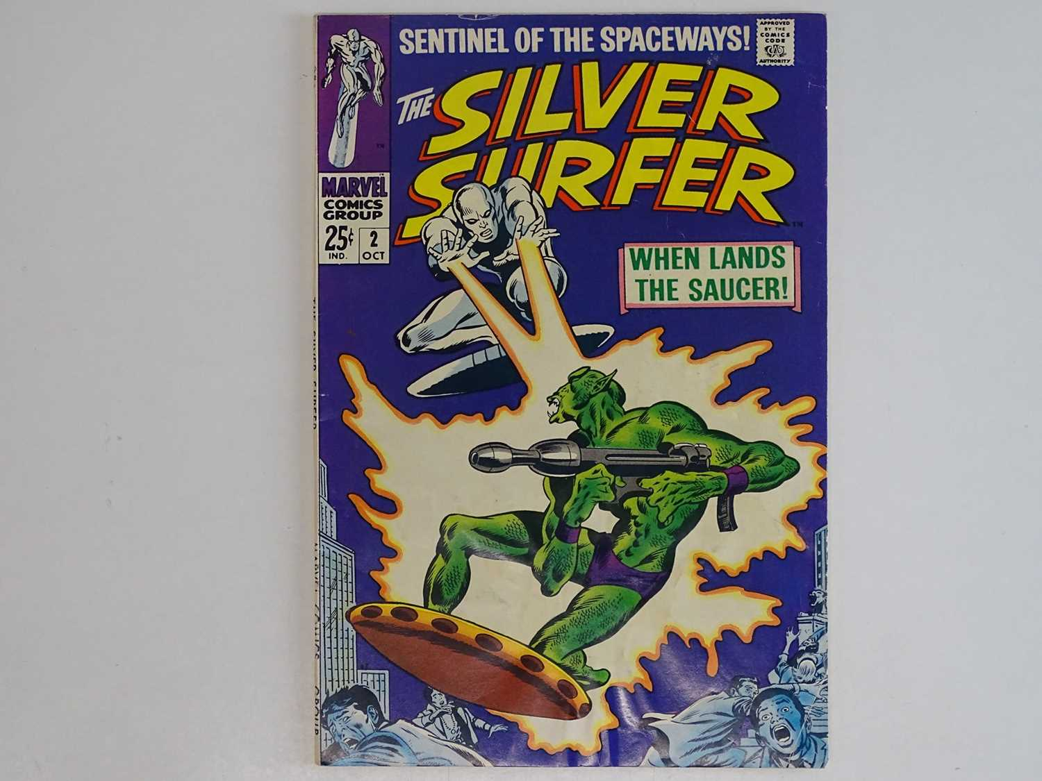 SILVER SURFER #2 - (1968 - MARVEL) - First appearance of the Brotherhood of Badoon + backup story