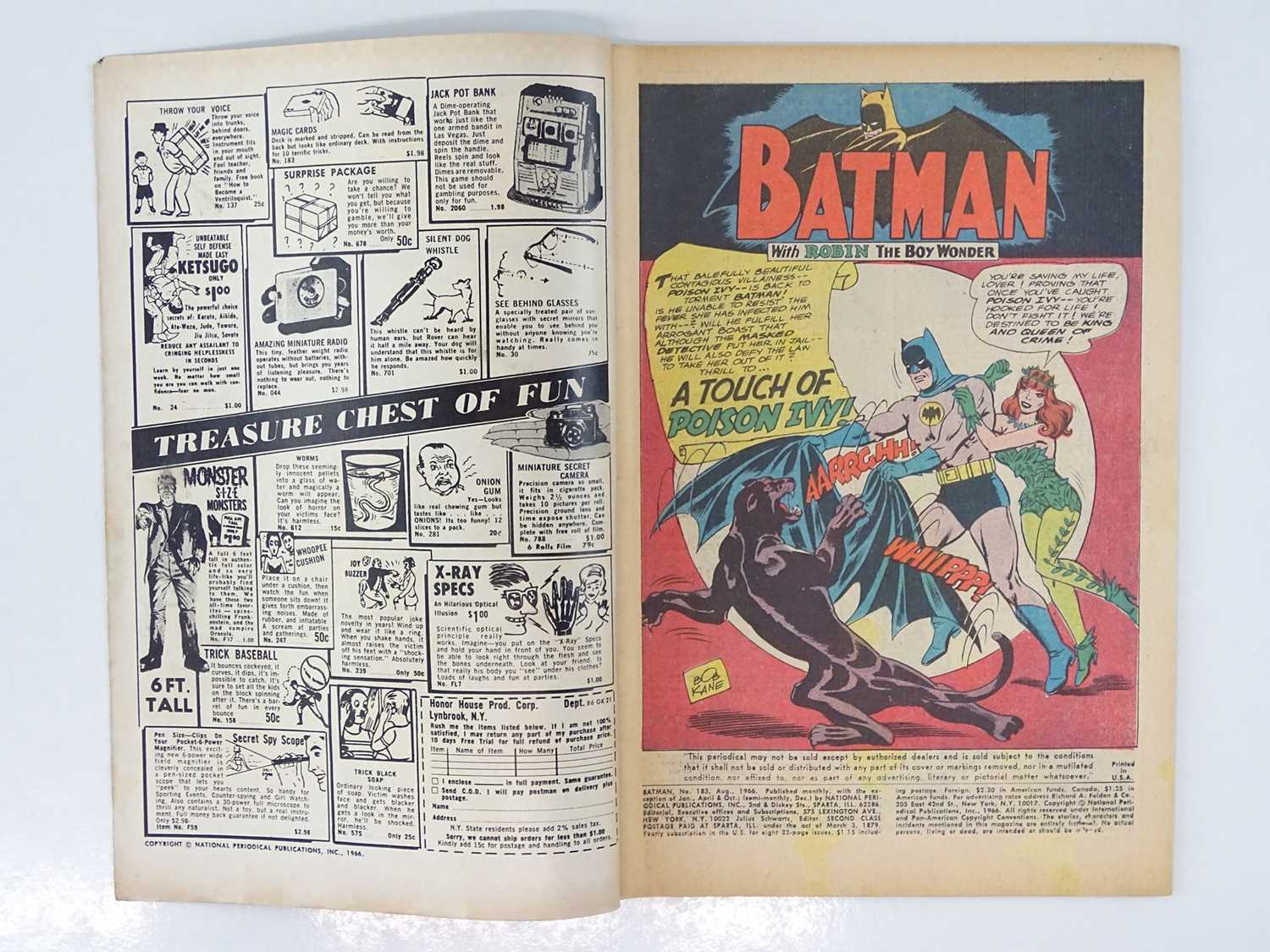 BATMAN #183 - (1966 - DC - Uk Cover Price) - Second appearance of Poison Ivy - Carmine Infantino & - Image 3 of 9