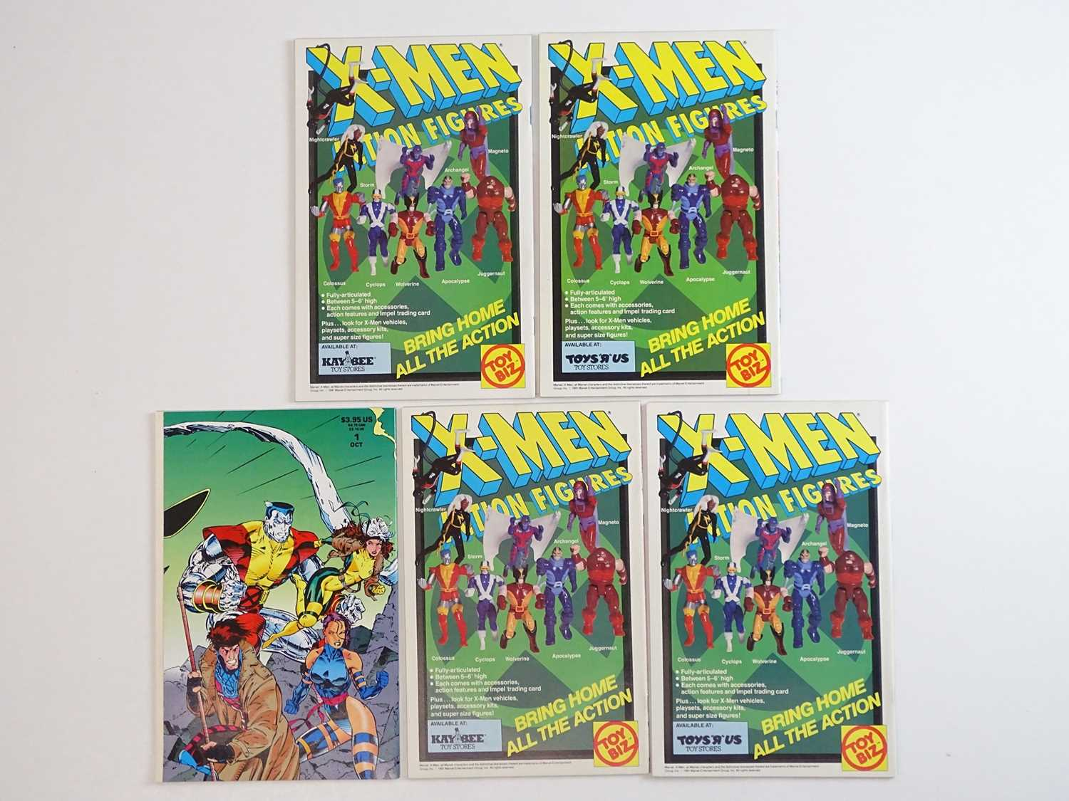 X-MEN #1 - (5 in Lot) - (1991 - MARVEL) - Complete set of ALL five variant covers - Jim Lee - Image 2 of 2