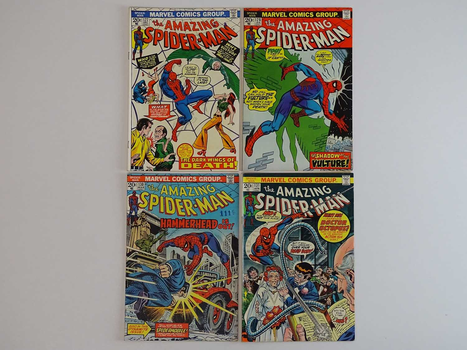 AMAZING SPIDER-MAN #127, 128, 130, 131 - (4 in Lot) - (1973/74 - MARVEL) - Includes First appearance