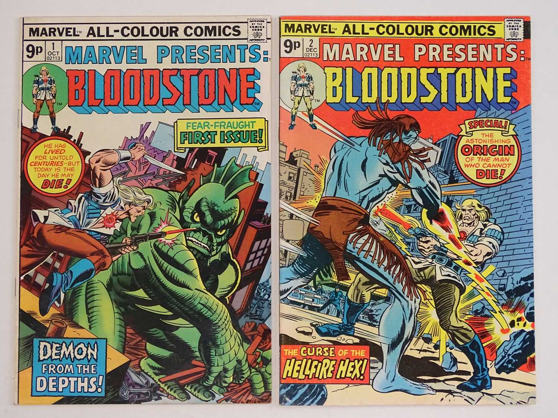 MARVEL PRESENTS: BLOODSTONE #1 & 2 - (2 in Lot) - (1975 - MARVEL - UK Price Variant) - Includes