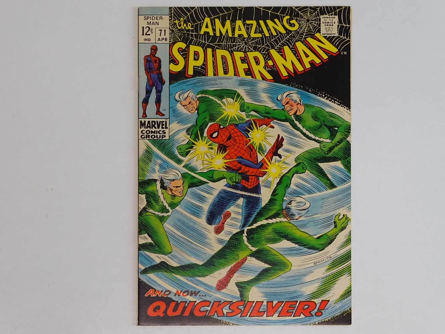 AMAZING SPIDER-MAN #71 - (1969 - MARVEL) - Quicksilver, Scarlet Witch, Toad appearances - John