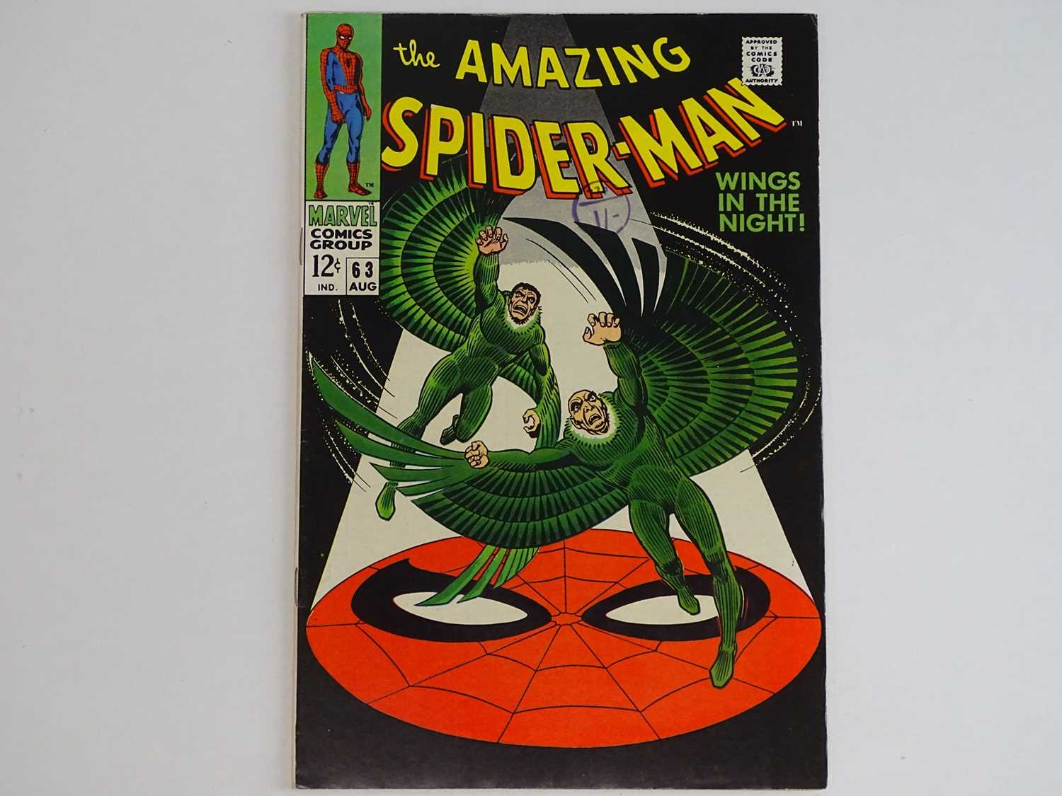 AMAZING SPIDER-MAN #63 - (1968 - MARVEL - UK Cover Price) - The original Vulture (Adrian Toomes) and