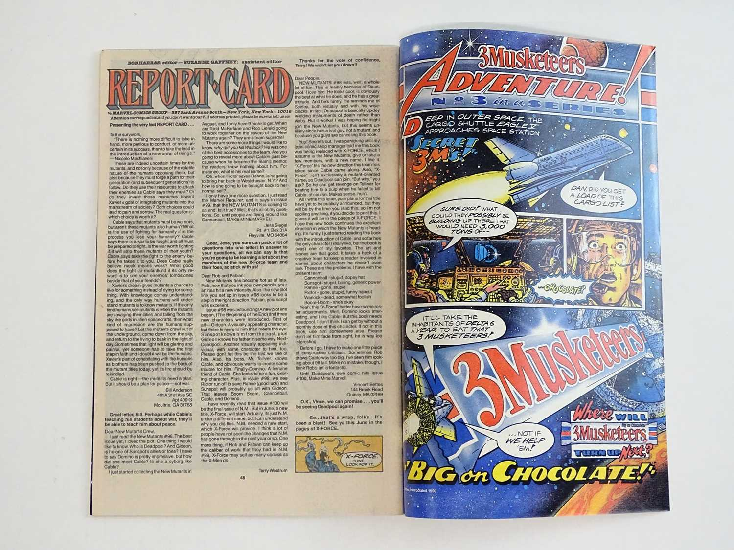 NEW MUTANTS #100 - (1991 - MARVEL) - First appearance of X-Force + Last Issue of the Title - Rob - Image 4 of 9