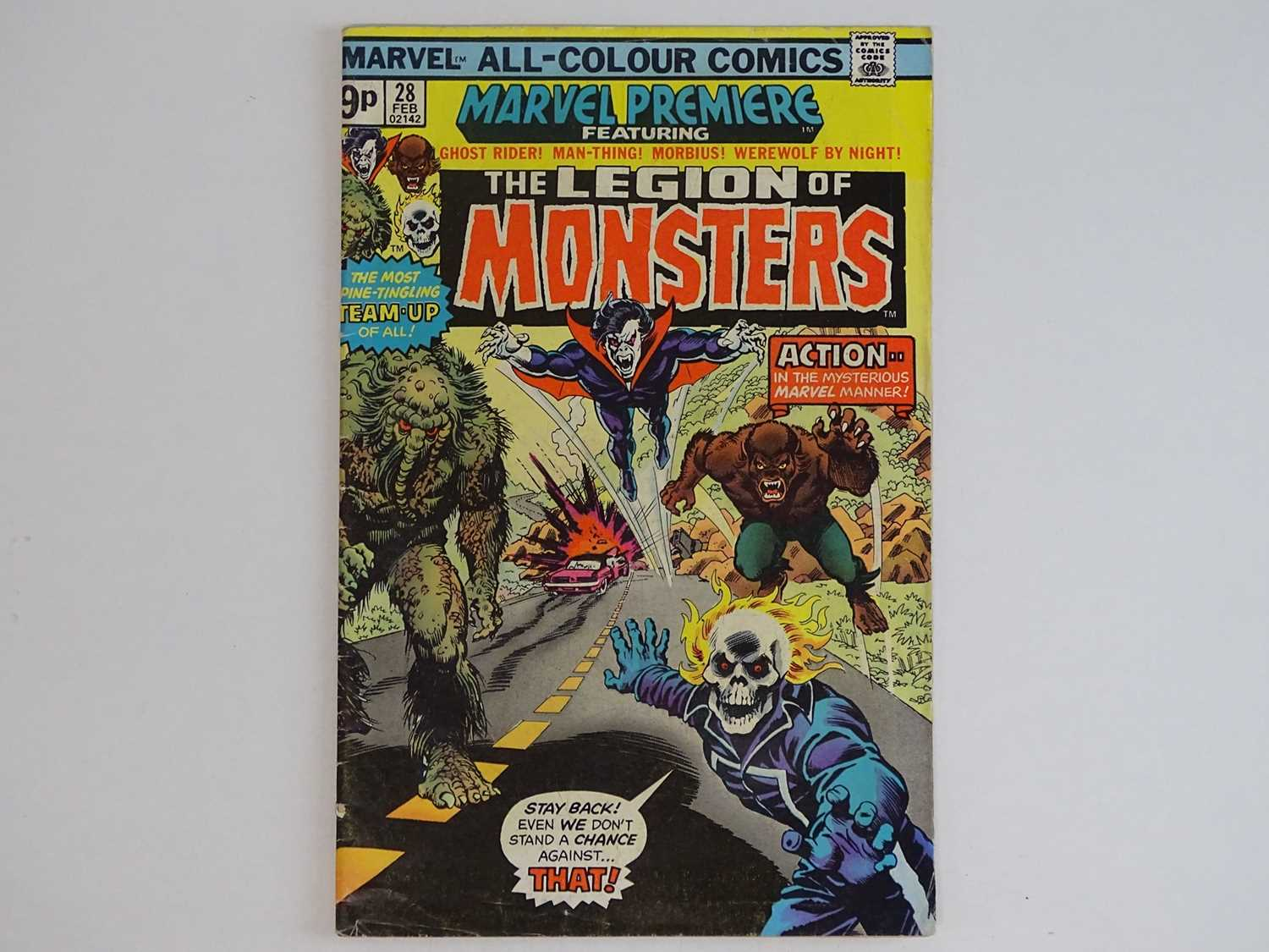 MARVEL PREMIERE #28 - (1976 - MARVEL - UK Price Variant) - Featuring the Legion of Monsters (Ghost