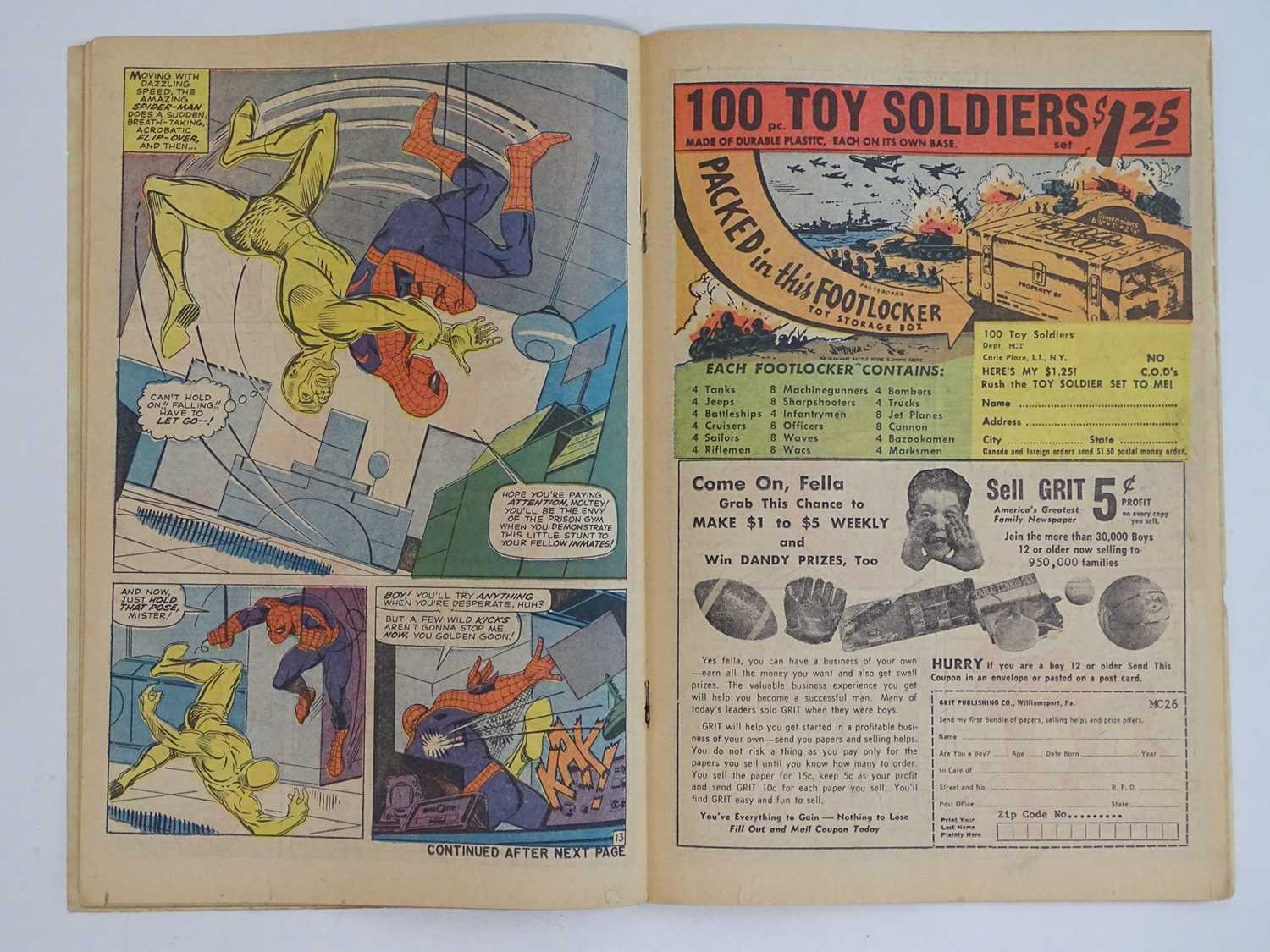 AMAZING SPIDER-MAN #35 - (1966 - MARVEL - UK Price Variant) - Second appearance of the Molten Man. - Image 5 of 9