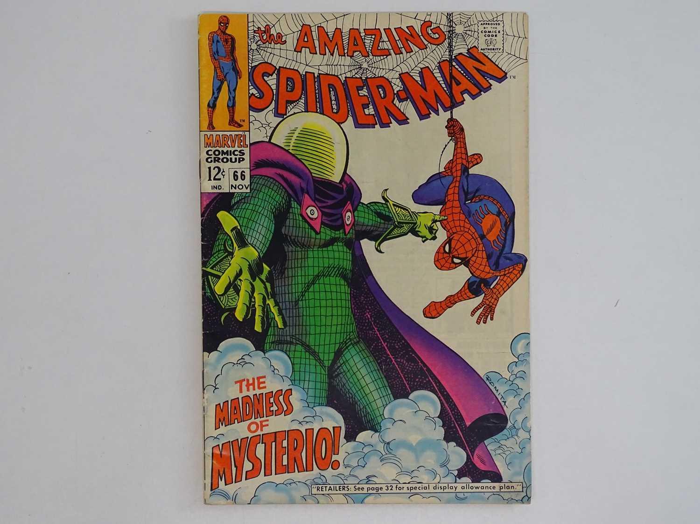 AMAZING SPIDER-MAN #66 (1968 - MARVEL) - Spider-Man battles Mysterio. + Green Goblin cameo - John