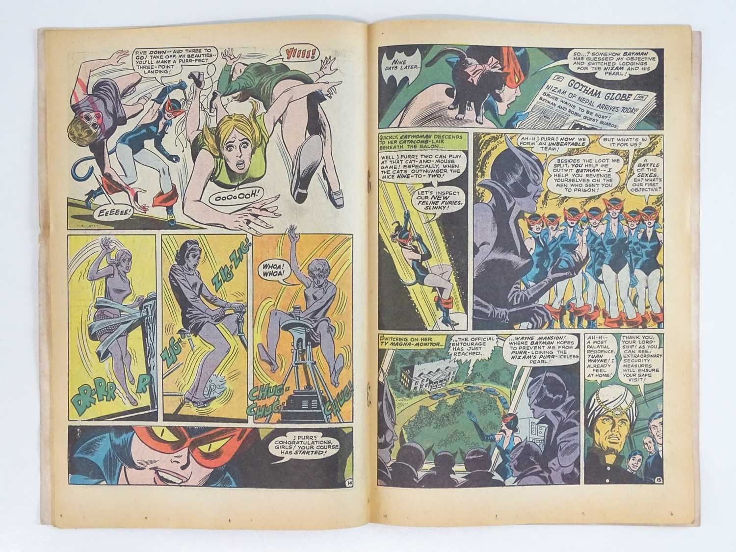 BATMAN #210 - (1969 - DC - UK Cover Price) - First appearance of the Feline Furies which includes - Image 5 of 9