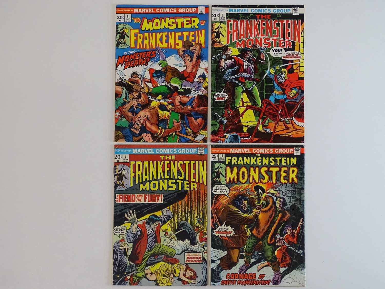 MONSTER OF FRANKENSTEIN (THE FRANKENSTEIN MONSTER) #4, 6, 7, 11 - (4 in Lot) - (1973/74 - MARVEL)