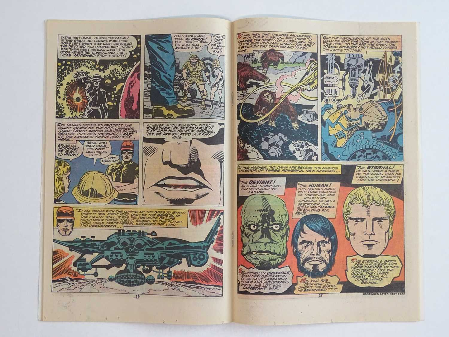 ETERNALS #1 - (1976 - MARVEL - UK Price Variant) - HOT Key book + Origin and First appearances of - Image 5 of 9