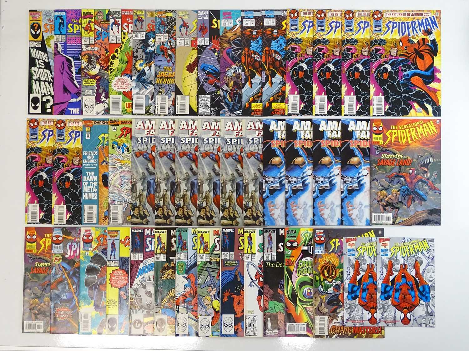 SPIDER-MAN LOT - (45 in Lot) - (MARVEL) - Includes AMAZING SPIDER-MAN (1986/95) #279, 288, 331, 387,