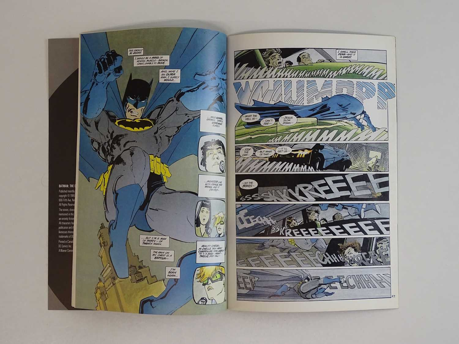BATMAN: DARK KNIGHT RETURNS #1 - (1986 - DC) - First Printing - First appearance of Carrie Kelly + - Image 4 of 6