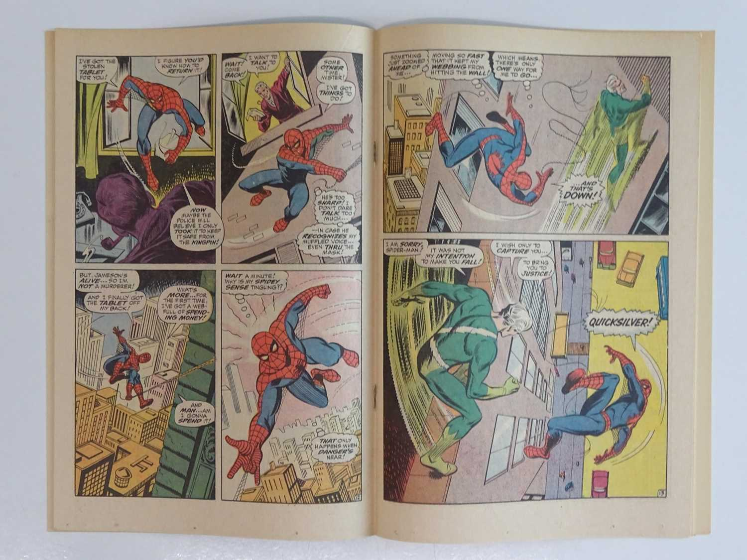 AMAZING SPIDER-MAN #71 - (1969 - MARVEL) - Quicksilver, Scarlet Witch, Toad appearances - John - Image 5 of 9
