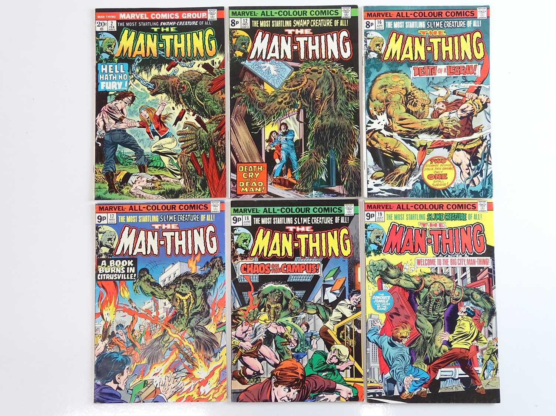 MAN-THING #2, 12, 16, 17, 18, 19 - (6 in Lot) - (1974/75 - MARVEL - US Price & UK Price Variant) -