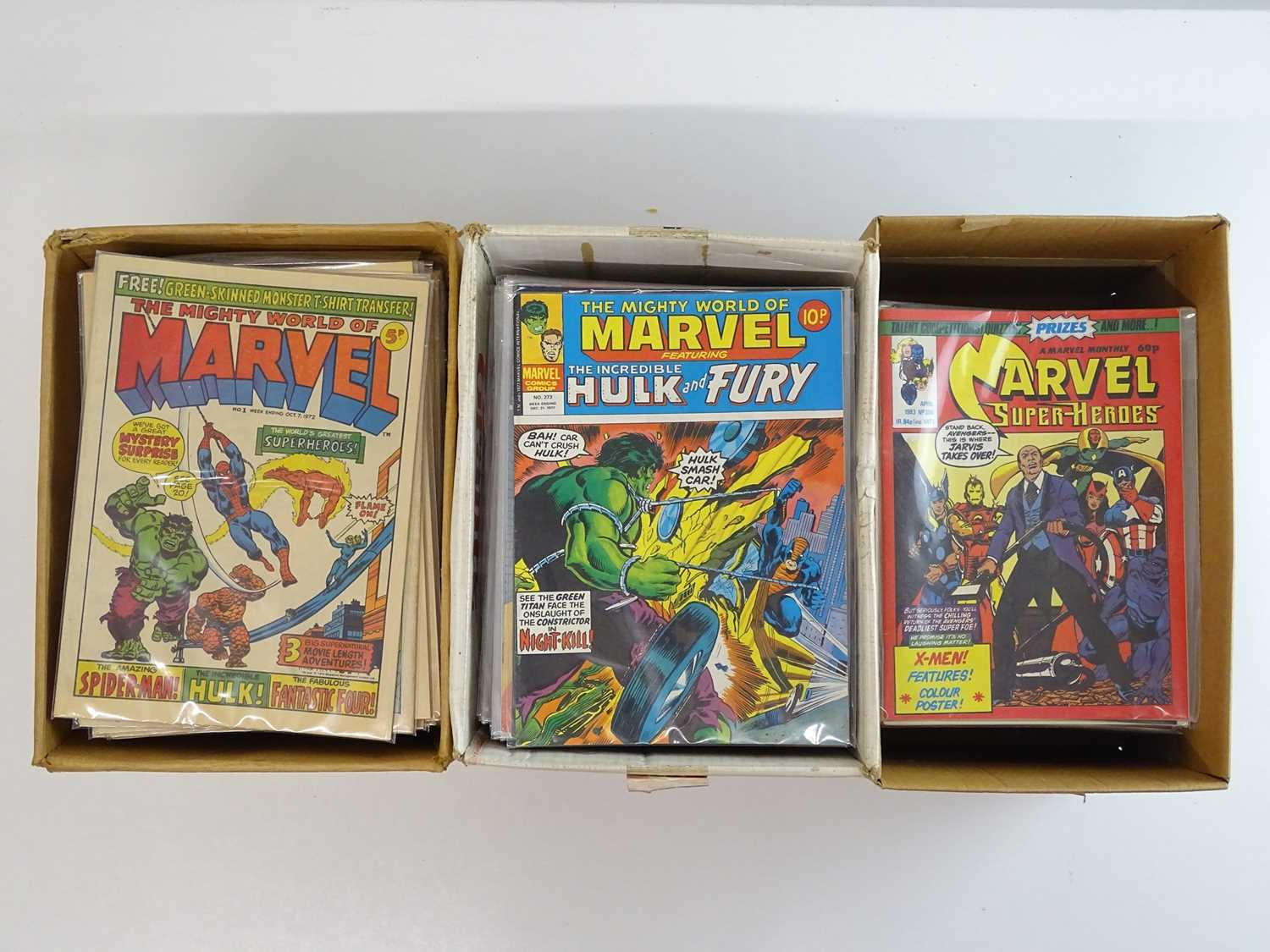 MIGHTY WORLD OF MARVEL #1 to 397 - (397 in Lot) - (1972/83 - BRITISH MARVEL) - Complete 397 issue