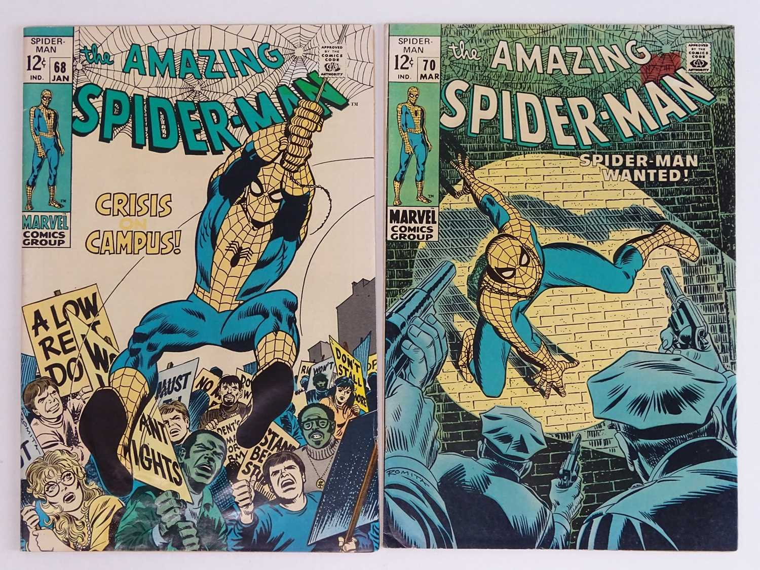 AMAZING SPIDER-MAN #68 & 70 - (2 in Lot) - (1969 - MARVEL) - Includes Kingpin appearance + 'Clay