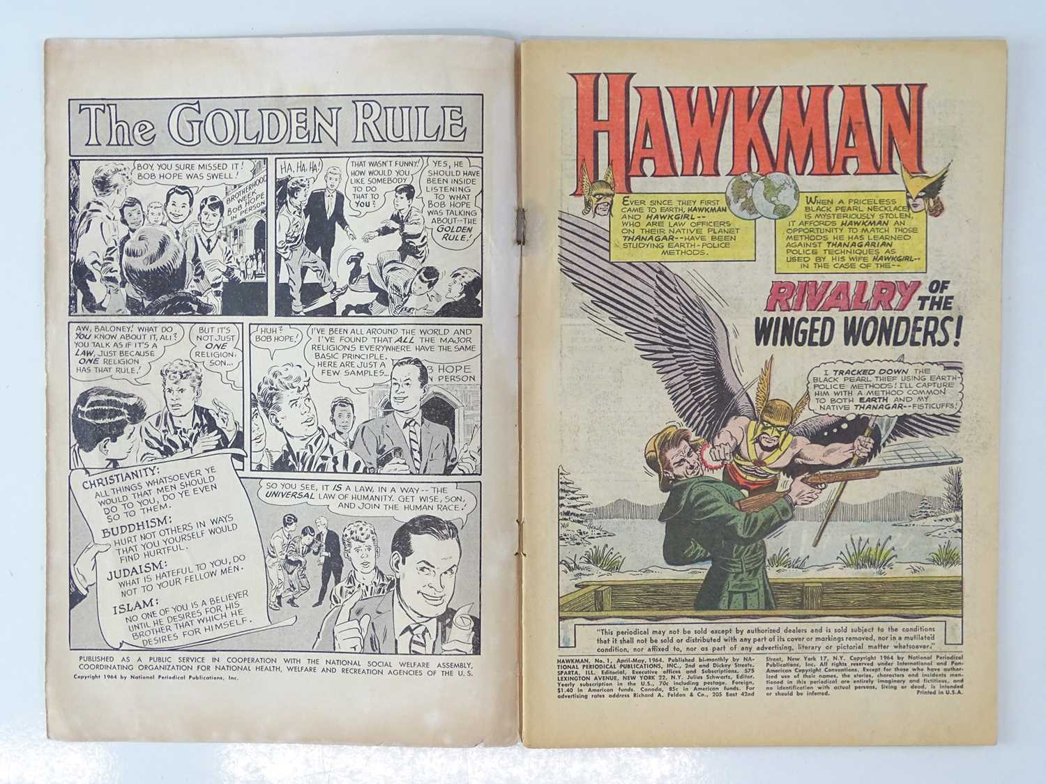 """HAWKMAN #1 - (DC - UK Cover Price) - First solo title for Hawkman gets after appearances in """"Brave - Image 3 of 9"""