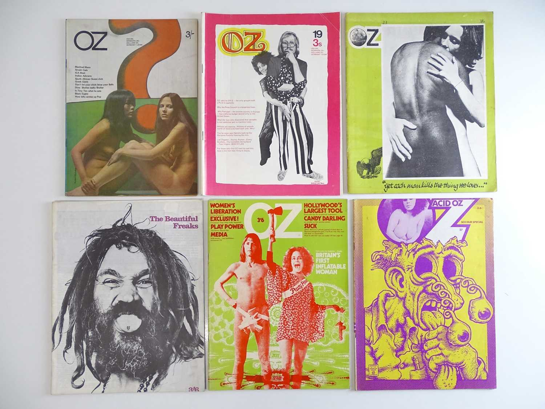 OZ MAGAZINE #17, 19, 23, 24, 26, 27 - (6 in Lot) - (1968/70) Selection of 6 x OZ Magazines -