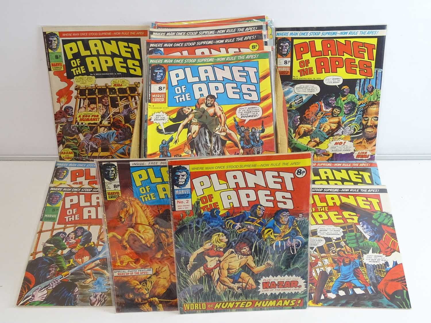 PLANET OF THE APES #1 to 123 - (123 in Lot) - (1974/77 - BRITISH MARVEL) - Complete 123 issue run