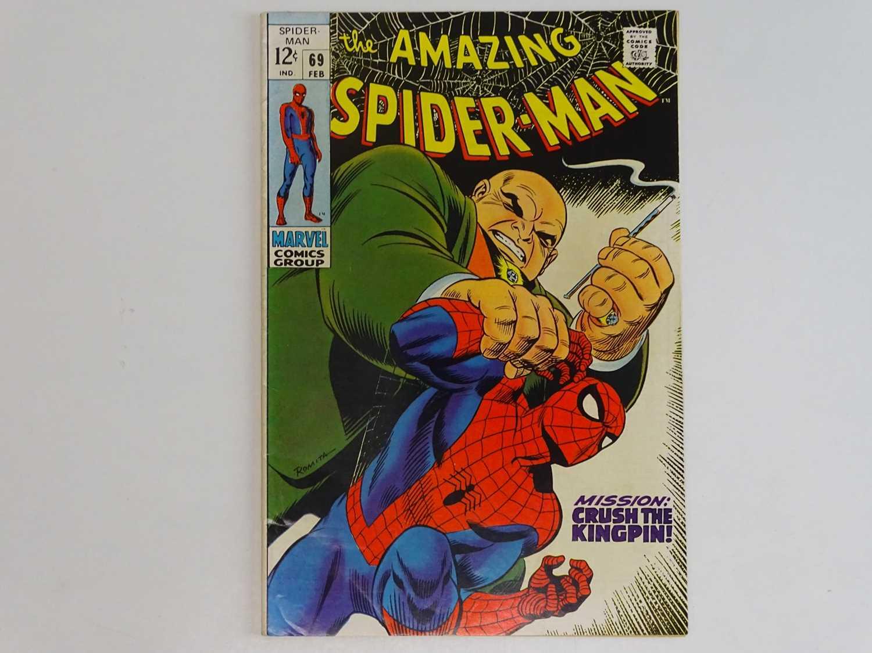 AMAZING SPIDER-MAN # 69 (1969 - MARVEL) - Kingpin appearance cover & story - John Romita Sr. cover