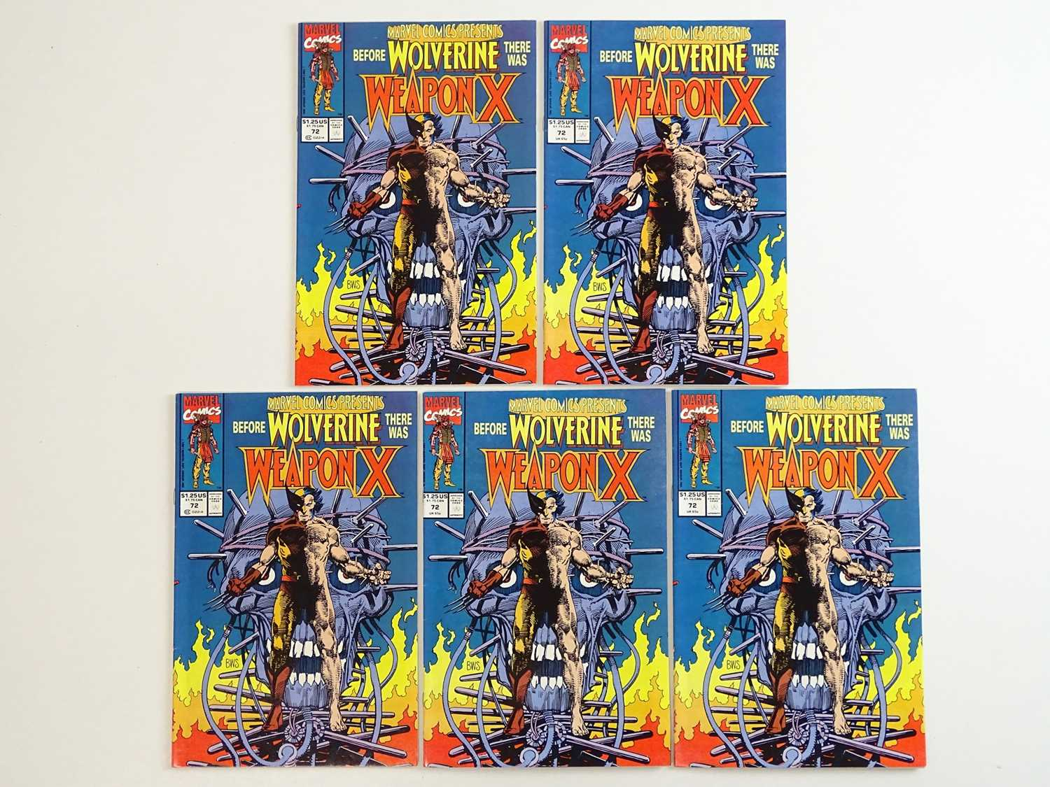 MARVEL COMICS PRESENTS #72 - (5 in Lot) - (1991 - MARVEL) - First appearance of Wolverine as